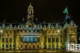 Het verlichte stadhuis op de Coolsingel in Rotterdam by Night