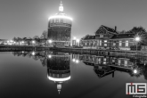 De Watertoren De Esch in Rotterdam by Night