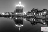De Watertoren De Esch in Rotterdam by Night