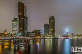 Te Koop | De Wilhelminapier vanuit Rotterdam Katendrecht gezien