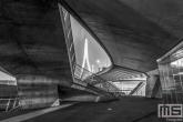 Te Koop | De Erasmusbrug in Rotterdam by Night als rauwe architectuur