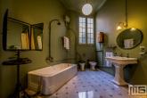 De authentieke badkamer in Casa Mila in Barcelona