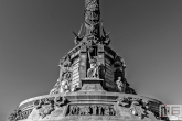 Het monument Mirador de Colom in Barcelona
