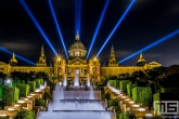 Het museum Nacional d'art de Catalunya in Barcelona by Night