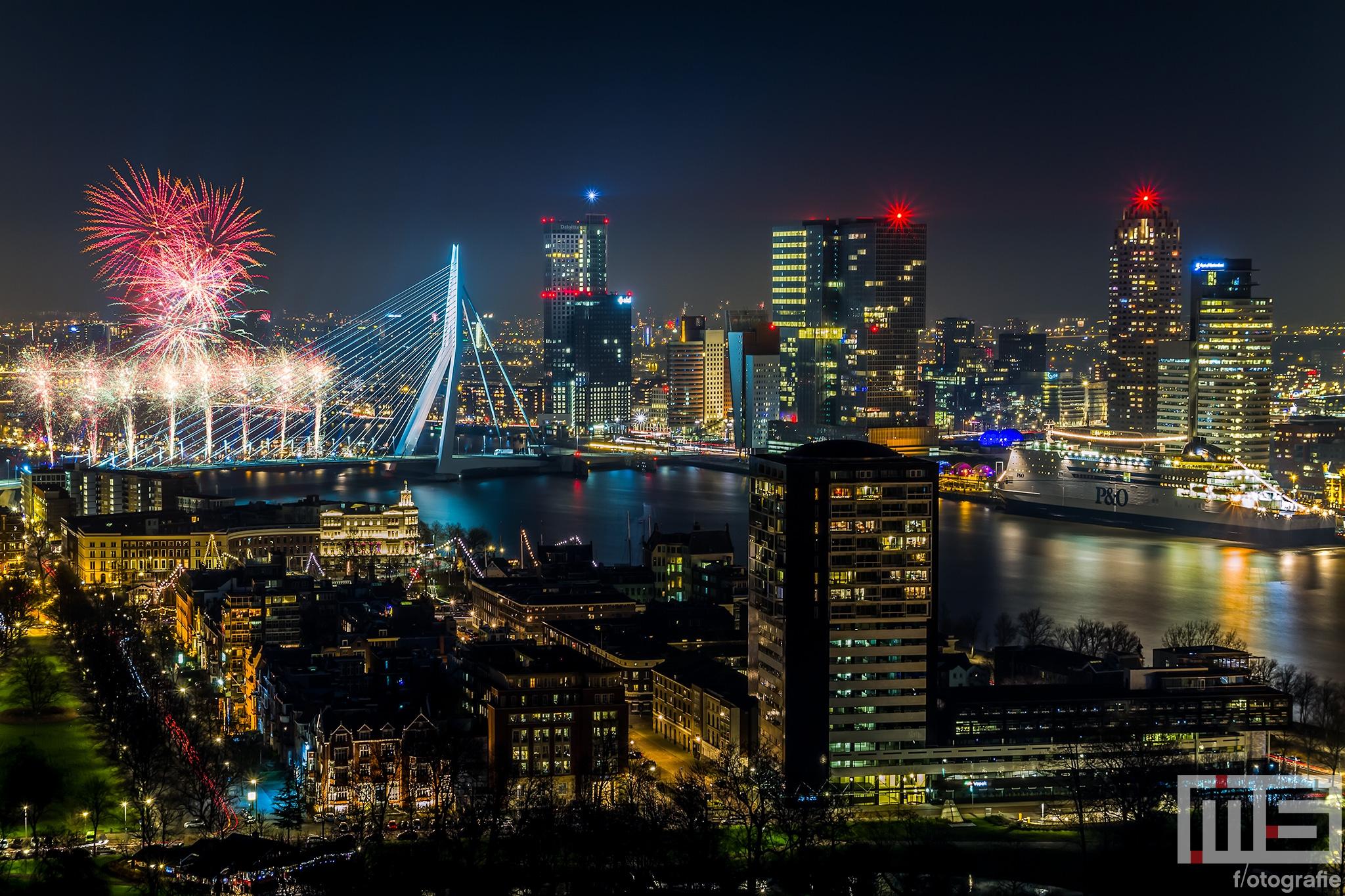 Erasmus Nieuwjaar.Gelukkig Nieuwjaar Rotterdam 2015 Ms Fotografie