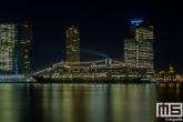 Het cruiseschip ms Rotterdam aan de Cruise Port in Rotterdam