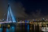 De Erasmusbrug en het Noordereiland in Rotterdam by Night