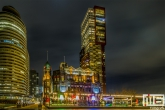 Het Hotel New York op de Wilhelminapier in Rotterdam by Night