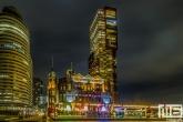 Te Koop | Het Hotel New York op de Wilhelminapier in Rotterdam by Night