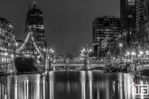 De Wijnhaven in Rotterdam met het Vessel 11