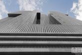 Het gebouw De Rotterdam door Rem Koolhaas in Rotterdam