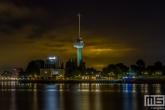 Te Koop | De Euromast en de entree van de Maastunnel in Rotterdam tijdens de nachtelijke uren