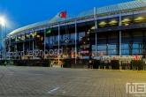 Te Koop | De entree van het Feyenoord Stadion De Kuip in Rotterdam Feijenoord tijdens een speelavond
