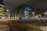 Te Koop | De klok bij de Markthal in Rotterdam tijdens in de avonduren