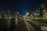 Te Koop | De Rijnhaven en de Erasmusbrug in de nachtelijke uren
