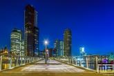 Te Koop | De Rijnhavenbrug in Rotterdam Katendrecht met nachtvorst