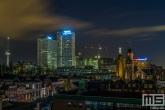 Het uitzicht op de Euromast en Erasmus MC in Rotterdam nu Night