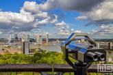 Te Koop | De skyline van Rotterdam met Hollandse Wolken gezien vanaf de Euromast