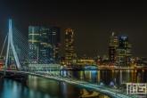 Te Koop | De skyline van Rotterdam met de Erasmusbrug