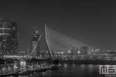 De Erasmusbrug en de Wilhelminapier in Rotterdam by Night