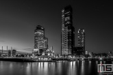 Te Koop | De Wilhelminapier in Rotterdam by Night