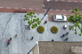 Het stadscentrum in Rotterdam van boven