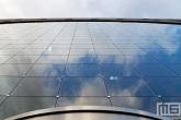 De glasramen van de Markthal in Rotterdam