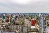 De skyline van Rotterdam Centrum