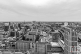 De uitzicht op de skyline van Rotterdam Centrum