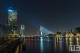 De Erasmusbrug, Noordereiland en Maastoren in Rotterdam by Night