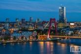 De Willemsbrug in Noordereiland in Rotterdam by Night