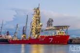 Te Koop | Het offshore schip Seven Rio van Subsea7 in de Waalhaven in Rotterdam