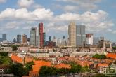 De skyline van Rotterdam Zuid met uitzicht op de wijk Tarwewijk
