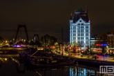 De Oudehaven met het Witte Huis in Rotterdam by Night