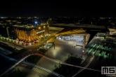 Het stationsplein in Rotterdam Centrum met het Centraal Station