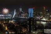 Te Koop | Het Nationale Vuurwerk in Rotterdam by Night