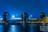 Het Feyenoord Station De Kuip in Rotterdam-Zuid tijdens een speelavond