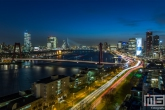 De skyline van Rotterdam by Night
