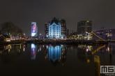 Te Koop | Het Witte Huis in de Oudehaven in Rotterdam by Night