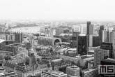 Te Koop | De skyline van Rotterdam Centrum in zwart/wit
