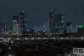 Te Koop | De skyline van Rotterdam by Night