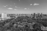 Te Koop | Het Park in Rotterdam by Day met Hollandse wolken in zwart/wit