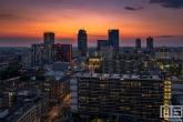 Te Koop | Het centrum van Rotterdam tijdens zonsondergang