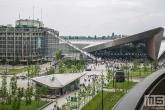 Het stationsplein en Centraal Station in Rotterdam Centrum