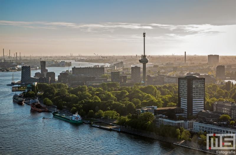 Te Koop | De Euromast in Rotterdam tijdens zonsopkomst