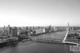 Te Koop | Het schitterende uitzicht op de Erasmusbrug in Rotterdam in zwart/wit