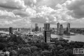 Te Koop | Het Park in Rotterdam met Rotterdamse wolken in zwart/wit