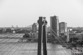 De pyloon van de Willemsbrug in Rotterdam