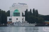 Het marineschipM863 tijdens de Wereldhavendagen in Rotterdam