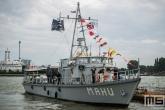 Het marineschip Mahu tijdens de Wereldhavendagen in Rotterdam